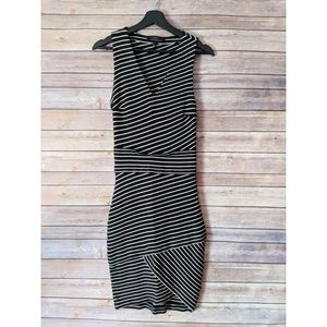 Robert Rodriguez Stripe Bodycon Midi Dress